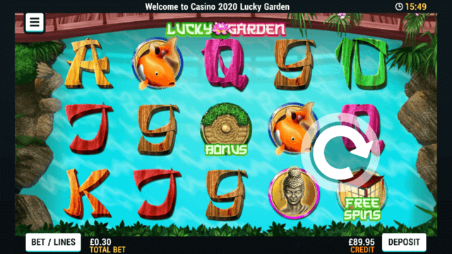 Lucky Garden mobile slots at Casino 2020