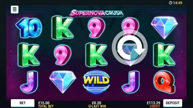 Supernova Crush mobile slots at Casino 2020