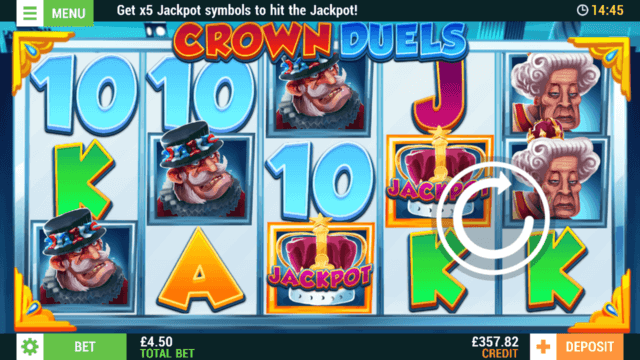 Crown Duels mobile slots at Casino 2020