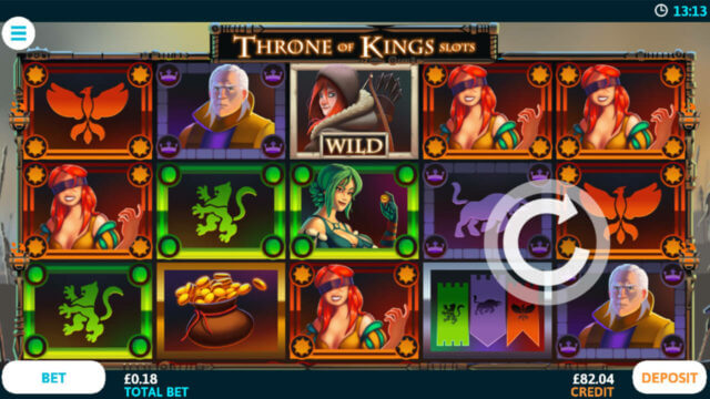 Throne of Kings mobile slots at Casino 2020