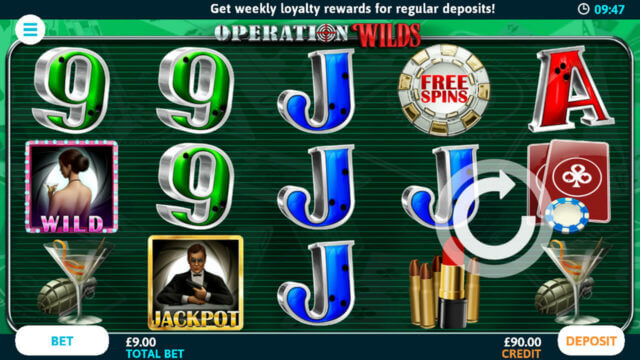 Operation Wilds mobile slots at Casino 2020