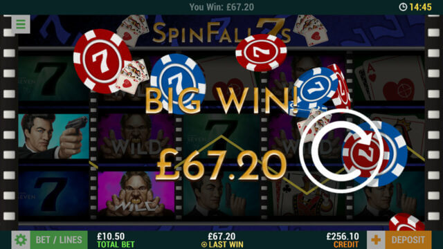 SpinFall 7s mobile slots at Casino 2020