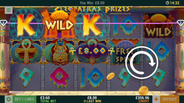 Cleopatra's Prizes mobile slots at Casino 2020