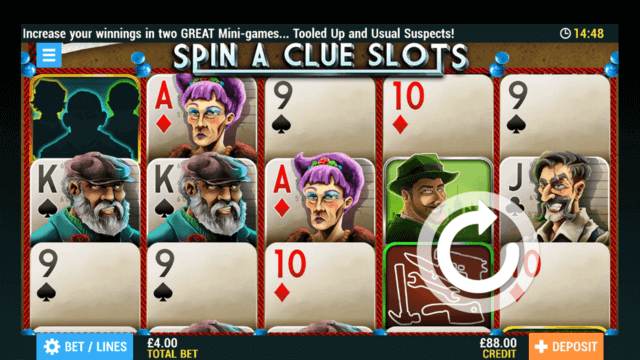 Spin a Clue mobile slots at Casino 2020