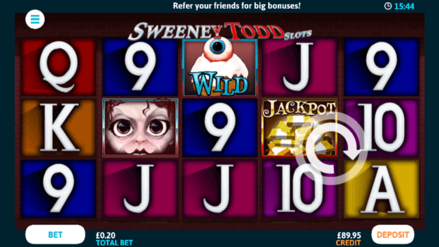 Sweeney Todd mobile slots at Casino 2020
