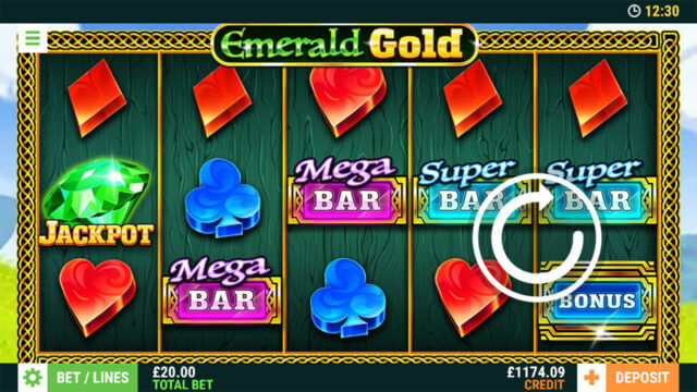 Emerald Gold Online Slots at mFortune Online Casino