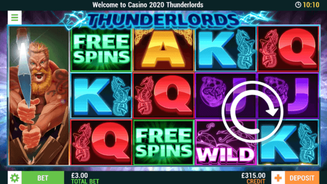 Thunderlords online slots at Casino 2020 - in game