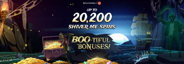 Who rocked the BOO-TIFUL BONUSES boat and stepped on shore with a share of 20,200 shiver me spins?
