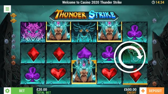 Thunder Strike online slots at Casino 2020 - in game screenshot