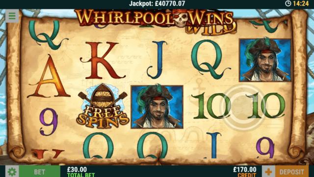 Whirlpool Wins Online Slots at Casino 2020 - in game screenshot