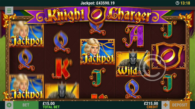 In game screenshot of Knight Charge online slots in Casino 2020