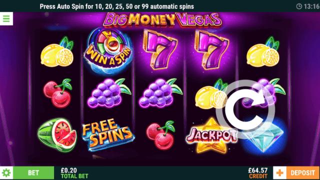Big Money Vegas Online Slots in game screenshot - Casino 2020
