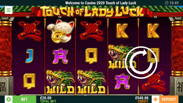 Touch of Lady Luck in-game screenshot
