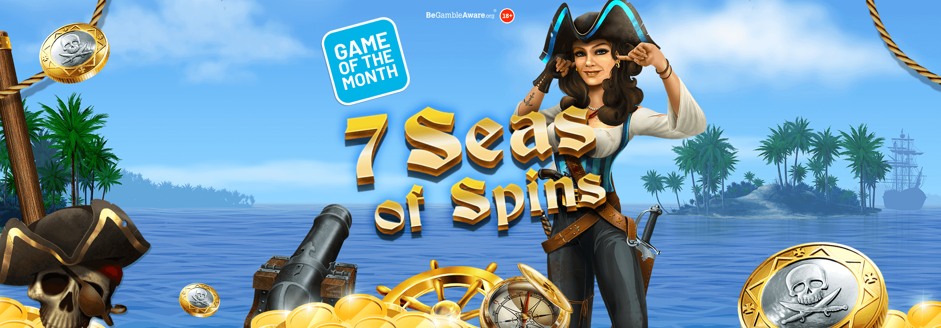 Will you be a buccaneer of big prizes with 7 Seas of Spins?
