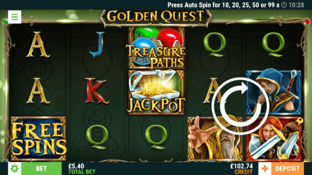 Golden Quest online slots by Casino 2020 in game screenshot