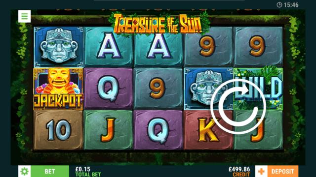 Treasure of the Sun online slots in game screenshot