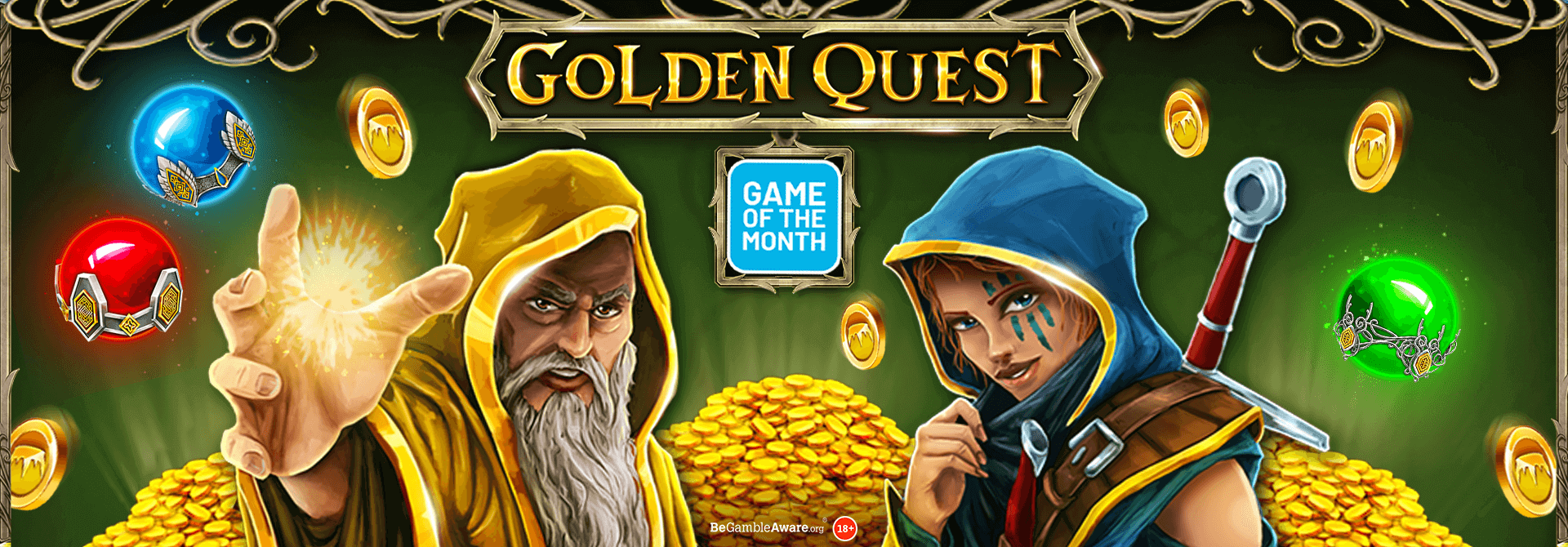 Will you discover glittering treasure with Golden Quest?