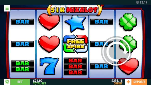 Sir Mixalot online slots in game screenshot